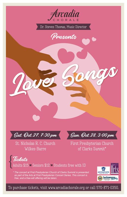"""Arcadia Chorale Fall Concert - """"Love Songs"""""""