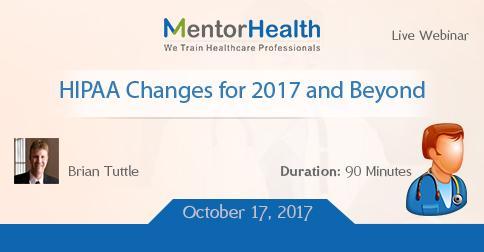 Webinar on 2017 HIPAA Changes and Beyond