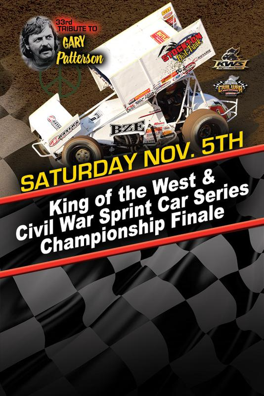 33rd Annual Tribute to Gary Patterson - King of the West & Civil War Sprint Car Series Championship Finale